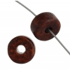 Ceramic Bead Cylinder 8X5mm Dark Brown